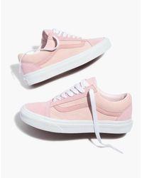 Madewell X Vans® Unisex Old Skool Lace-up Sneakers In Pink Colorblock Suede
