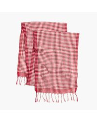 Madewell Red Gingham Check Scarf