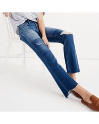 Madewell Blue Tall Cali Demi-boot Jeans: Unpatched Edition