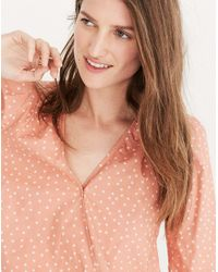 Madewell Multicolor Wrap Shirt In Star Scatter