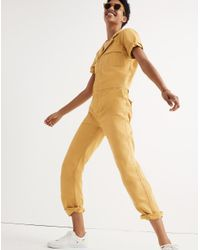 Madewell - Multicolor Short-sleeve Coverall Jumpsuit - Lyst