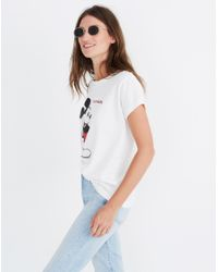 Madewell - White X Mickey Mouse California Tee - Lyst