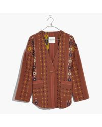 Madewell Brown Kimono Shirttail Jacket