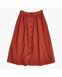 Madewell Multicolor Palisade Button-front Midi Skirt