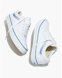 Madewell White X Vans® Unisex Old Skool Lace-up Sneakers In Ombre Stripe Canvas
