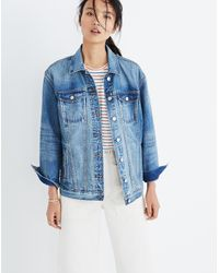 Madewell Blue The Oversized Jean Jacket In Capstone Wash