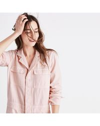 Madewell Pink Coverall Jumpsuit
