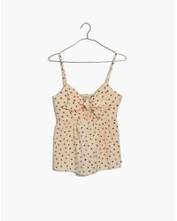 Madewell - Multicolor Tie-front Keyhole Cami Top In Fresh Strawberries - Lyst