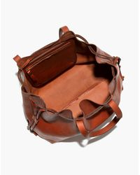 Madewell Brown The Drawstring Transport Tote