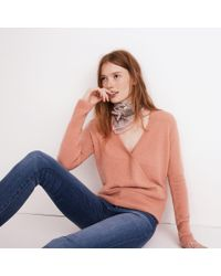 Madewell - Multicolor Wrap-front Pullover Sweater - Lyst