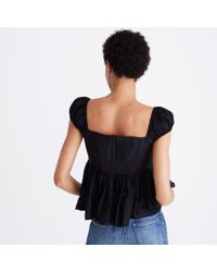 Madewell Black Karen Walker® Miss Lark Top