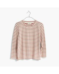 Madewell | Red Keys Three-quarter Tee In Whitwell Stripe | Lyst