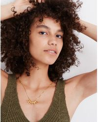 Madewell - Metallic Succulent Necklace - Lyst