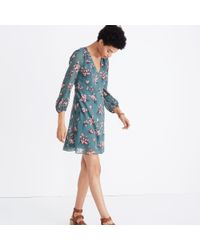 Madewell Blue Marguerite Dress In Butterfly Garden