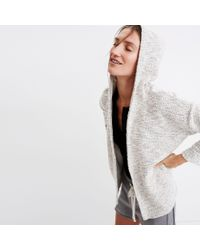 Madewell - White Textural Hooded Jacket - Lyst