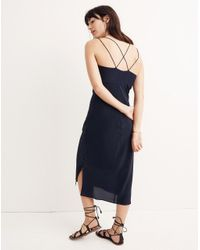 Madewell Blue Silk Slip Dress