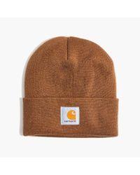 Madewell | Brown Carhartt® Work In Progress Short Watch Hat | Lyst