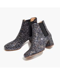 Madewell Multicolor The Walker Chelsea Boot In Glitter