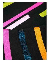 K. Janavi Janavi Lines Black Cashmere Scarf