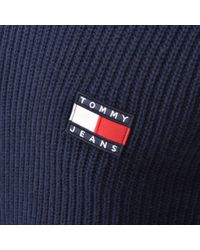 Tommy Hilfiger Blue Crew Neck Knit Jumper for men