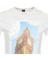 BOSS by Hugo Boss Boss Orange Topwork 2 T Shirt White for men