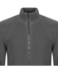 Belstaff Gray Full Zip Parkgate Jumper Grey for men