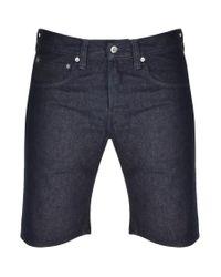 Edwin Blue Ed55 Denim Shorts for men