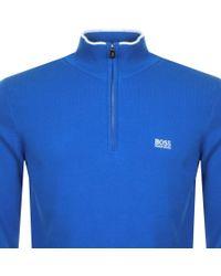BOSS Athleisure Boss Green Zimex Knitted Jumper Blue for men