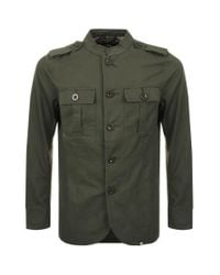Pretty Green Green Langford Jacket Khaki for men