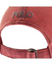 Ralph Lauren - Pique Cap Red for Men - Lyst