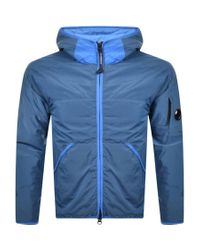 C P Company Blue Cp Company Hooded Jacket for men