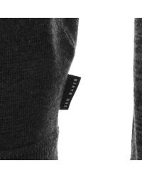 Ted Baker - Gray Cornfed Crew Neck Knit Jumper Grey for Men - Lyst
