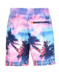 Superdry - Premium Neo Refective Swim Shorts Pink for Men - Lyst