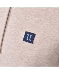 Les Deux Brown Piece Logo Hoodie for men