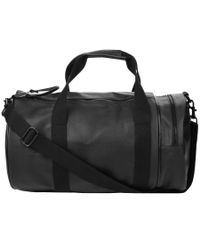 Fred Perry - Black Saffiano Barrel Holdall for Men - Lyst