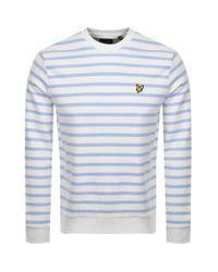 Lyle & Scott Blue Breton Stripe Sweatshirt for men