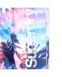Superdry - Premium Neo Refective Swim Shorts Pink for Men - Lyst