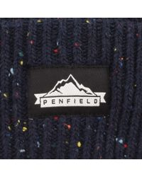 Penfield - Blue Harris Beanie Hat Navy for Men - Lyst