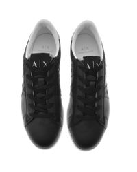 Armani Exchange Logo Trainers Black for men