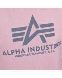Alpha Industries Basic Sweatshirt Pink for men