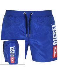 DIESEL Blue Wave Swim Shorts for men