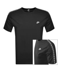 Nike Black Crew Neck Repeat Logo T Shirt for men