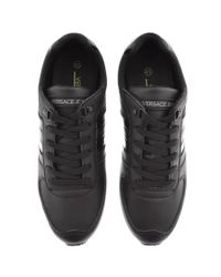 Versace Jeans Logo Trainers Black for men