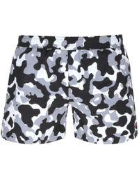 HUGO Camouflage Swim Shorts Black for men