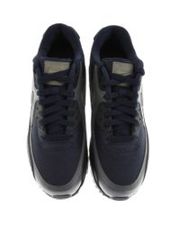 Nike Blue Air Max 90 Essential Trainers Navy for men