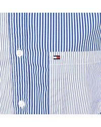 Tommy Hilfiger - Mixed Stripe Shirt Blue for Men - Lyst