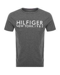 Tommy Hilfiger Gray Logo T Shirt Grey for men