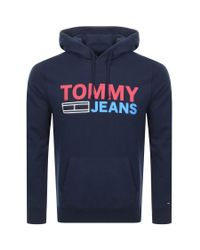 Tommy Hilfiger Blue Corp Logo Hoodie for men
