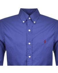 9a663c575 Ralph Lauren Slim Beach Twill Shirt Blue in Blue for Men - Lyst