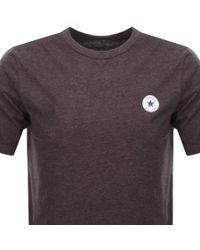 Converse All Star Core Logo T Shirt Purple for men